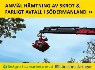 Anmäl hämtning av skrot & farligt avfall i Södermanland