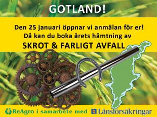 Den 25 januari 2021 öppnar anmälan för hämtning av skrot och farligt avfall på Gotland