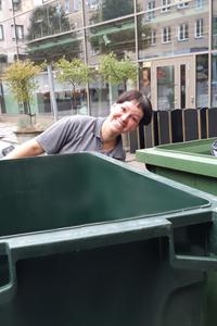 Avfallssortering ingår i miljöarbetet