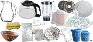 Deponi, härdat glas, keramik, speglar och porslin