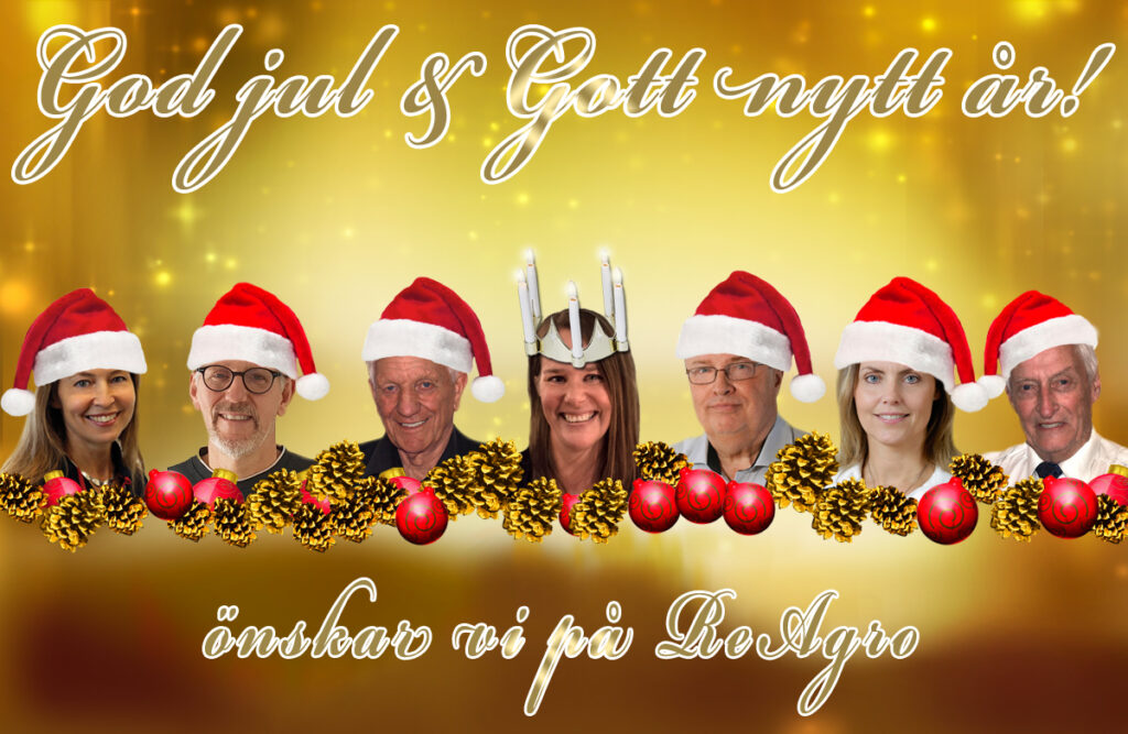 God jul & Gott nytt år önskar vi på ReAgro!
