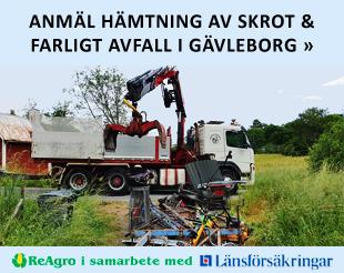 Anmäl hämtning av skrot & farligt avfall i Gävleborg