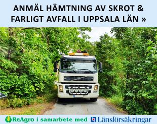 Anmäl hämtning av skrot & farligt avfall i Uppsala län