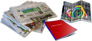 Tidningar broschyrer och kataloger